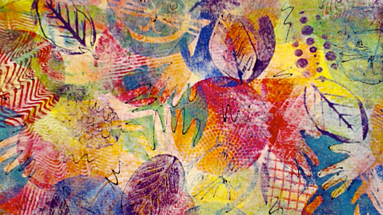 Gelli printing on fabric with barb owen for Fabric printing