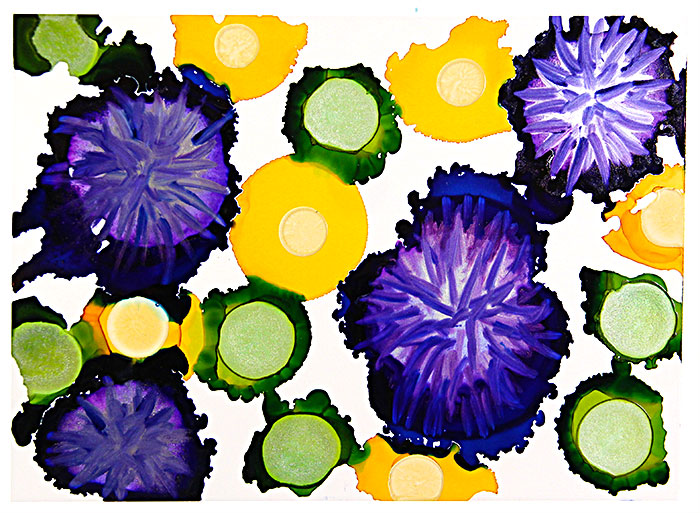 Purple-Yellow-Green-Flowers-Alcohol-Ink-700x513px