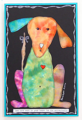 Gloss-Paper-Alcohol-Ink-Dog-Orange-Head-Green-Body-479x700px