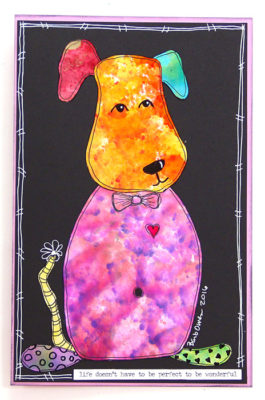 Gloss-Paper-Alcohol-Ink-Dog-Orange-Head-Purple-Body-464x700px